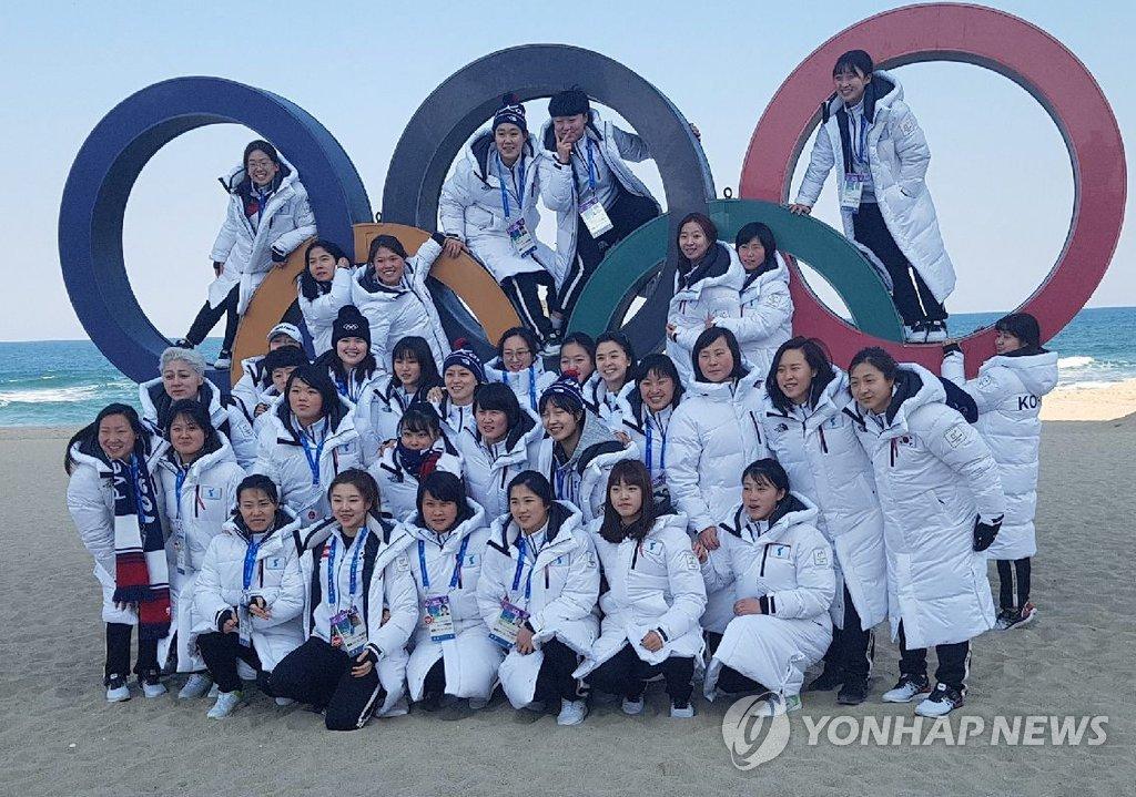 [올림픽] '바다 나들이' 간 남북단일팀