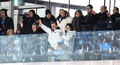 文在寅金与正欢迎韩朝代表团入场