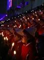 朝鲜拉拉队观看开幕式