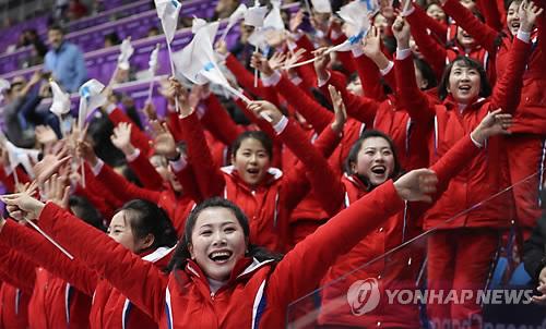 北朝鮮の応援団(資料写真)=(聯合ニュース)