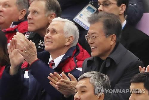 문대통령, 펜스 美부통령 면담 돌입…비핵화 로드맵 논의