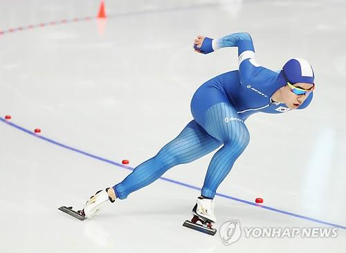 銅メダルを獲得した金敏錫=13日、江陵(聯合ニュース)