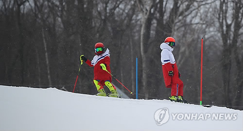 N. Korean alpine skier Kim Ryon-hyang
