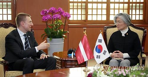 한-라트비아 외교장관 회담