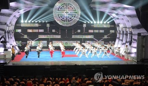 남북 태권도 합동 시범단
