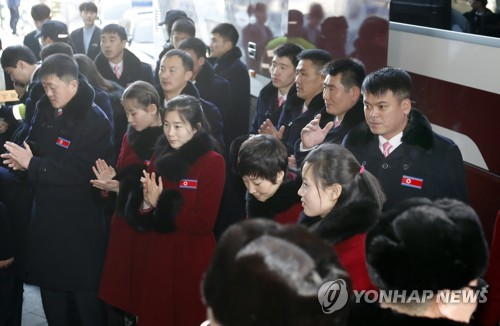 [올림픽]'북한으로 돌아갑니다'