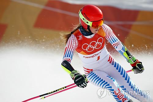 [올림픽] 스키 요정 피니시라인 통과