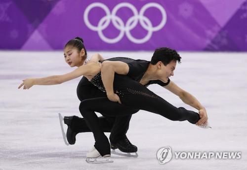 フィギュアスケート・ペアに出場したリョム・テオク、キム・ジュシク組=(聯合ニュース)