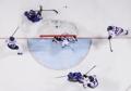 韩朝女子冰球联队迎战瑞典队