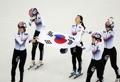 L'or au relais 3.000 femmes de short-track