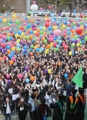 Balloons of hope for freshmen