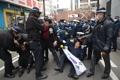 「竹島の日」に抗議 大阪でデモ