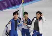 남자 빙속 팀추월, 2개 대회 연속 은메달