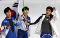 男子団体追い抜き 2大会連続「銀」