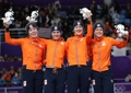 Netherlands wins silver in women's team pursuit
