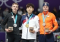 Medalists of men's speed skating mass start