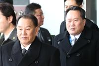 김영철 등 北고위급대표단 방남…'천안함' 질문엔 '묵묵부답'
