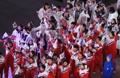 韩朝运动员打成一片