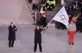 北京市长挥舞五环旗