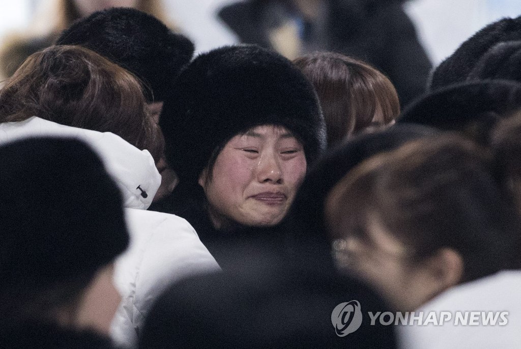 [올림픽] '울먹이는 북한 선수'