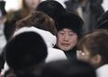 韩朝冰球队员互拥告别