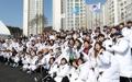 韓国選手団が解団式