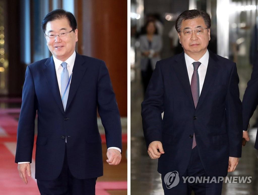 대북특별사절단, 정의용-서훈