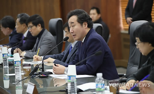 규제혁파를 위한 현장 대화하는 이낙연 총리