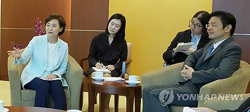 김현미 장관, 싱가포르 국가개발부 장관과 면담