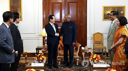 정세균 의장, 코빈드 인도 대통령 예방