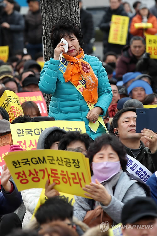 Rally for GM Korea's normalization