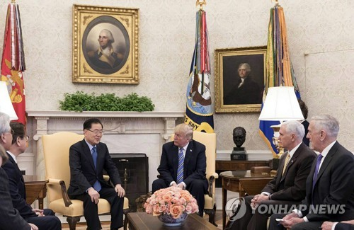 Envoyé sud-coréen-Trump