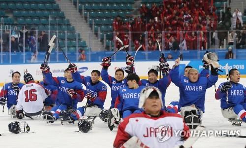 平昌残奥韩国冰球大胜日本