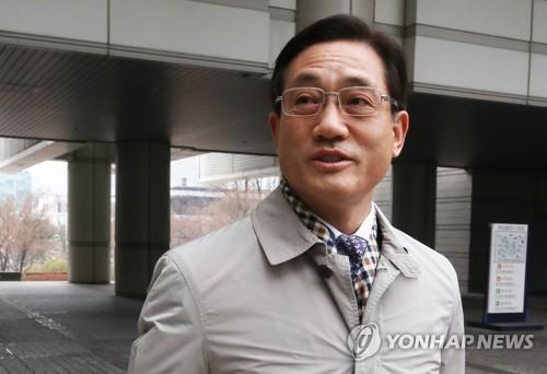 법정 향하는 구은수 전 서울경찰청장