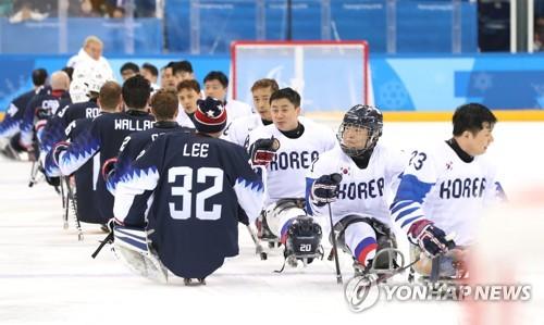 冬残奥会冰球韩国不敌美国