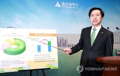 추경예산안 설명하는 김기현 울산시장