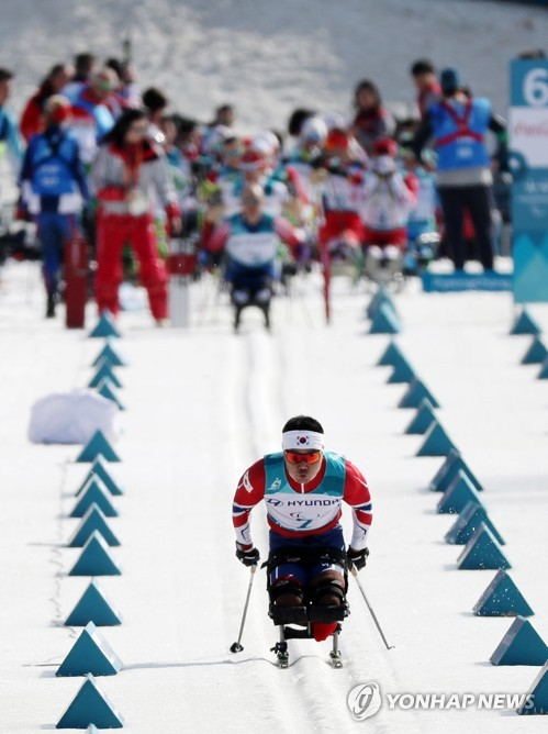 S. Korean para-athlete competes at Paralympics