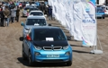 Electric vehicle parade on Jeju Island