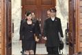韩朝首席代表步入会场