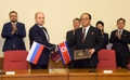 N.K., Russia sign agreement on economic cooperation