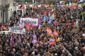 프랑스 철도·공무원노조 하루 총파업…대규모 장외투쟁