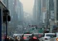 雾霾中的上班路