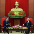 Moon et le secrétaire général du PC vietnamien