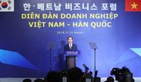 '한-베트남 비즈니스 포럼' 기조 연설하는 꽝 주석
