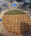 ソウル広場も春モードに