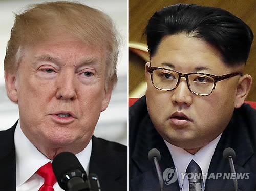 도널드 트럼프 미국 대통령(좌)과 김정은 북한 국무위원장