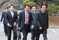 La delegación surcoreana para los diálogos intercoreanos de alto nivel