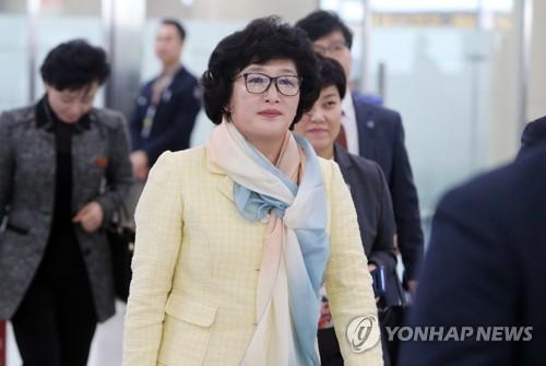 한은경 북한축구협회 부회장 [연합뉴스 자료 사진]