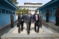韩朝高级别会谈韩方代表团返回