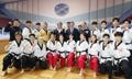 韩国跆拳道示范团平壤留影